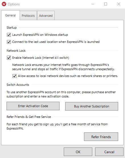 expressvpn-general-settings-most-secure-vpn-services