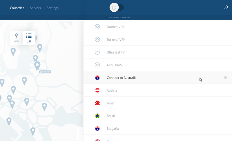nord-vpn-best-provider-windows-app-countries