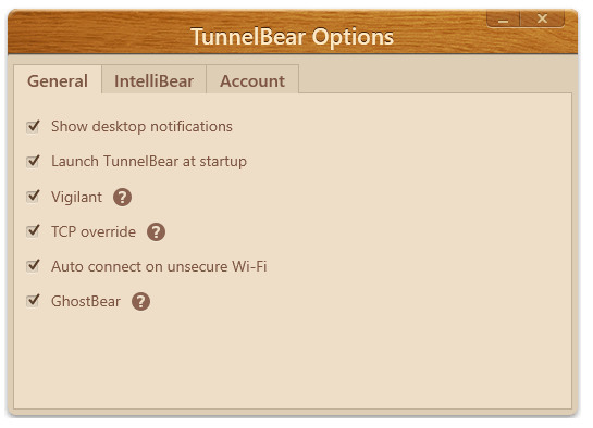 tunnelbear-settings