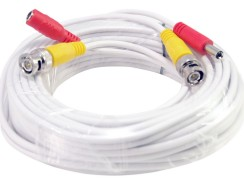 Electronics. Online Security. Best Deals & User Reviews: 10FT White Premade BNC Video Power Cable / Wire For Security Camera, CCTV, DVR, Surveillance System, Plug & Play (White, 10)