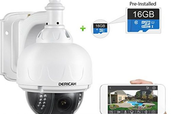 Cameras & Photos. Security & Safety. Best Deals & User Reviews: Dericam Outdoor WiFi IP Security Camera, Pan/Tilt camera, Fixed Lens( f=4mm, Not optical zoom lens) 1.3 Megapixel, Pre-installed 16GB Memory Card, S1E-16G White